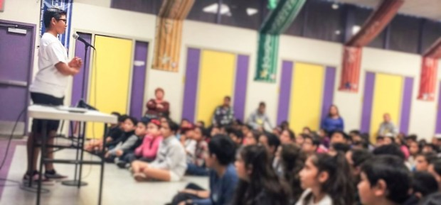 Jonas Corona Love in the Mirror Speaking in School