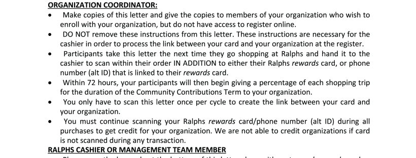 LITM Scanbar Letter Ralphs